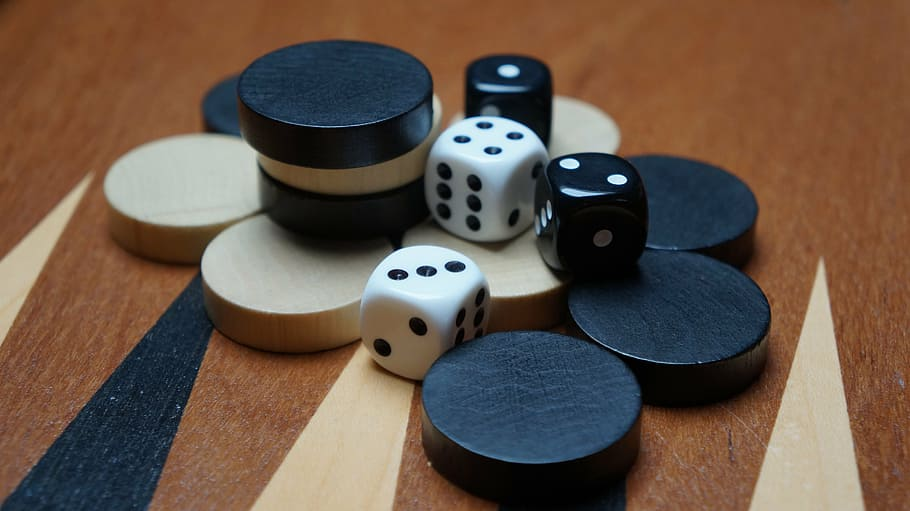 dice and game pieces